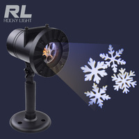 Auto rotating garden lamp snowflaker heart star party holiday living christmas laser light for house decoration