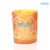 Wholesale yellow glass flower candle holders