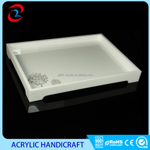 Fashionable White Square Acrylic Serving Tray
