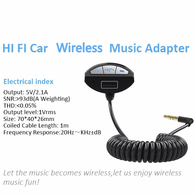 Wireless car kit hands free BC10 wireless audio receiver,hifi music receiver for car