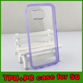 transparent ultra thin mobile phone tpu case, pc cover for samsung glaxy s6