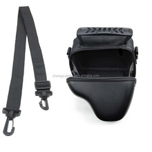 Protective Black Leather Camera Case Bag for Canon