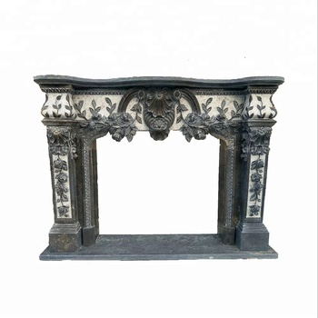 High Quality stone sculpture New product White Marble Fireplace