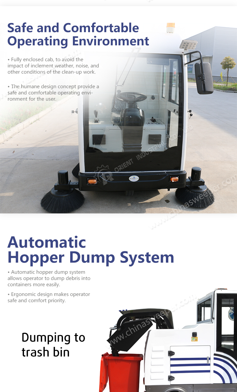 Chinese Cheapest Electric Street Vacuum Floor Sweep Machine