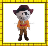 Manufactory china made pirate mascot costume popular EVA plush girls pirate costume for adult