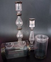 wholesale clear glass candle holder for home decoration