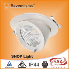 Best price Australian Standard White Dimmable LED Gimbal Downlight with Trim Ring 30watt saa&ce