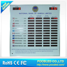 220v led foreign exchange rates board \ bank currency exchange \ currency exchange banner signage