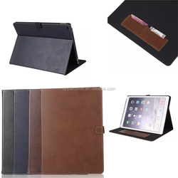 High quality Genuine Card holder Flip Leather Case Cover for ipad pro with wake up /sleeping function , for ipad pro case