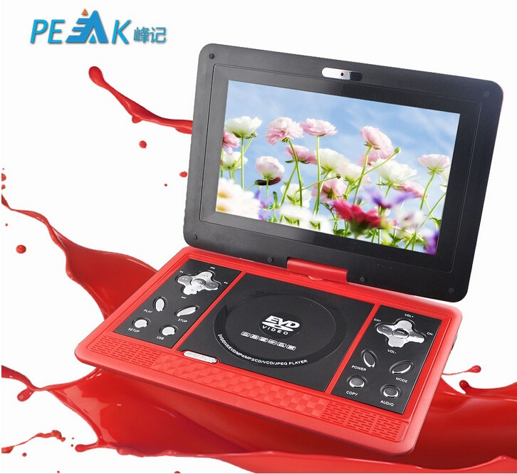 10.1 inch large screen 3d portable dvd player with rechargeable battery