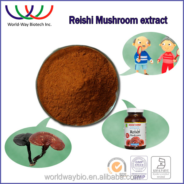 100% natural reishi polysaccharides 10% , top quality reishi mushroom extract triterpenes