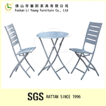 Foshan China Hot Sales High Quality Leisure Outdoor Poly Wood Furniture , White Folding Patio Garden Furniture Chairs And Table