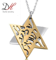 2018 Daihe New Design Custom Gold Plated Cool Charm Double Penadnt Necklaces