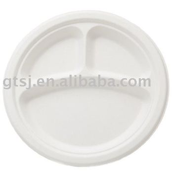 9 inch biodegradable disposable food plate