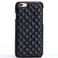 Shockproof Quilted Leather Back Phone Case For iPhone 7 Real Leather Cover