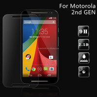 For Motorola Moto G 2nd Generation tempered glass screen protector film Explosion-proof 0.3mm ultra thin 9H hardness
