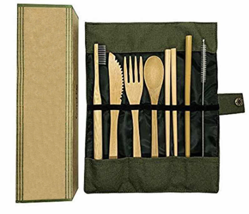 Bamboo Cutlery <strong>Set</strong> Organic Reusable Biodegradable BPA Free Custom Logo Bamboo Travel Cutlery <strong>Set</strong>