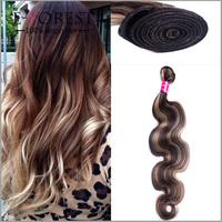 Wholesale Piano Color 30/ 613 Mixed Color Peruvian Wave Remy Human hair bundles