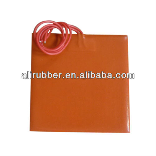 Customized 12v 300x300mm Silicone Heater For 3D Printer Bed
