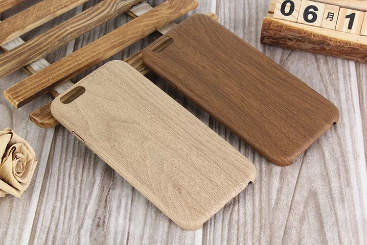 Soft TPU Back Cover for Wooden iPhone Case iPhone 6; Wood Grain Design Case for iPhone 6s