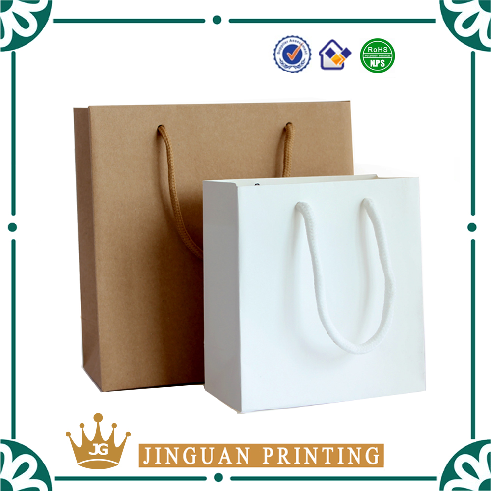 Factory hot sale recyled shopping package customized retail kraft paper bag