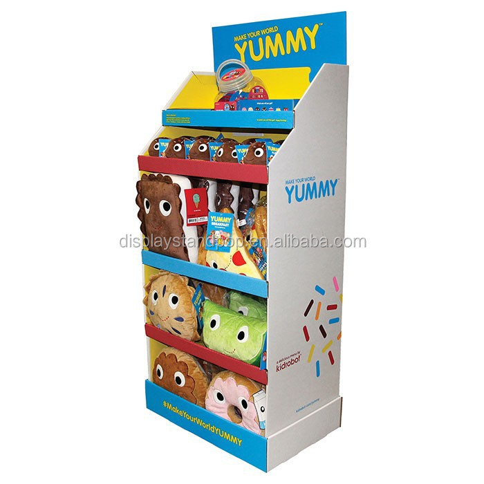 Customized Producing Floor Cardboard Merchandise Displays