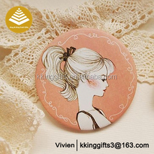 Decorated Pocket Mirror Beautiful Diamond Design Pocket Mirror Custom Logo ladies Compact Mirror