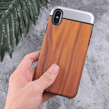 Miroos Patent Products Bayer TPU+Metallic oil coated PC+Wood sticker 3 in 1 Confined Mobile Phone case cover for iPhone 7 8 X
