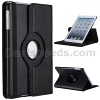 360 Rotatable Side Flip 360 Rotatable Leather Case for iPad Mini 4 with Elastic Belt