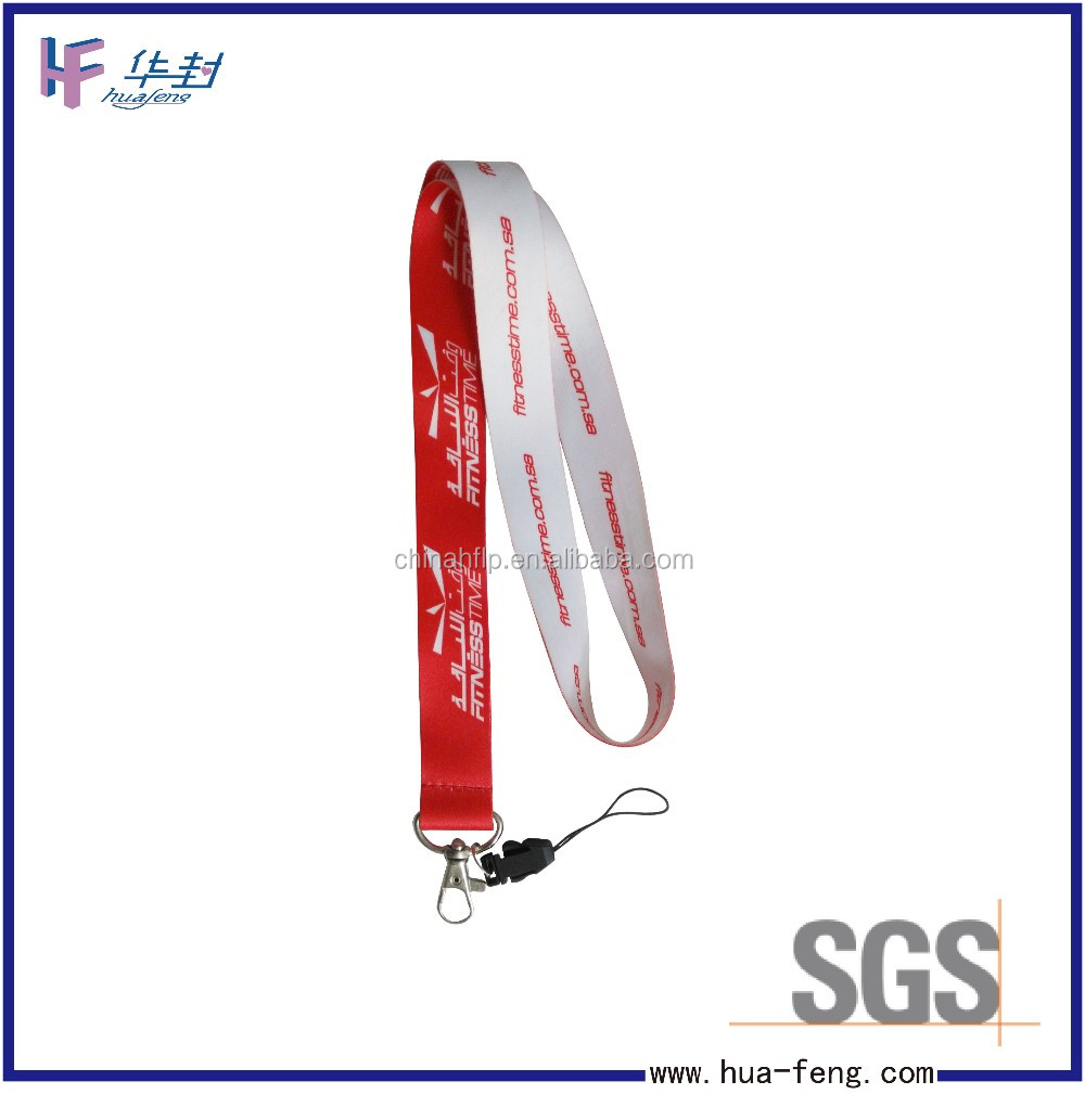 Memorial popular colorful lanyards with mobile keychain