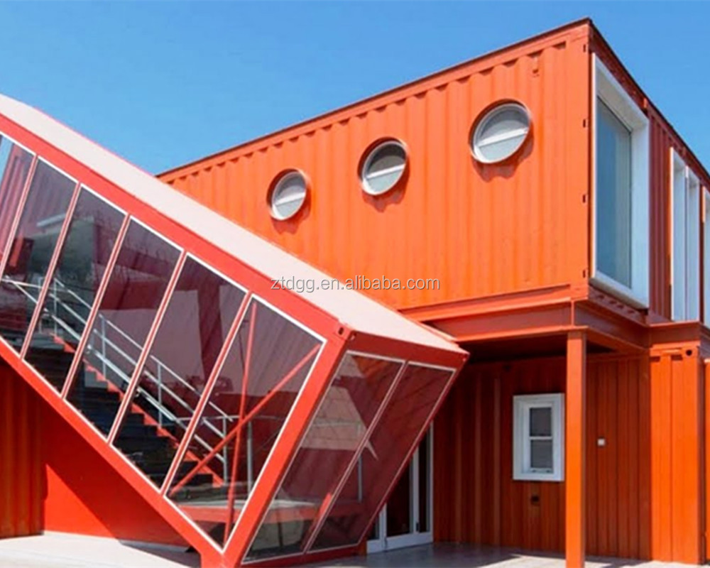 Good quality two bedrooms prefab container house manufacture