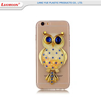 Wholesale Clear Tpu Cartoon Kickstand Back Phone Case For Iphone 5 5s 5se Plus With Acrylic Diamond +Soft Tpu Cover Case