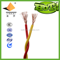 2*1 Copper core PVC insulated twisted flexible cord for connection rvs cable 2*1