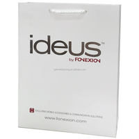 Logo Printed White Card Paper Bag,Mobile Paper Bag