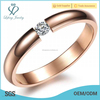 Top selling shinning crystal ring,plated rose gold ring,stainless steel ring