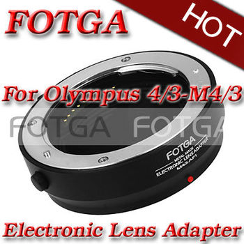 Fotga Metal Electronic Adapter Metal Ring for 4/3 lens to Micro 4/3 E-P1 G1 GF1 camera w/ tripod mount adapter