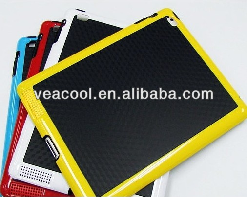 Black Plate + Color Bumper Frame TPU case for Apple iPad 2 3 4 case