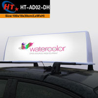 New advertising led neon taxi roof light box