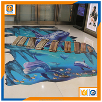 custom fancy cute cartoon floor sticker/3d floor sticker