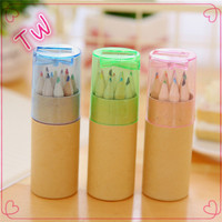 Newest stationery for office, korean color pencils ,packing box mini colored pencil set