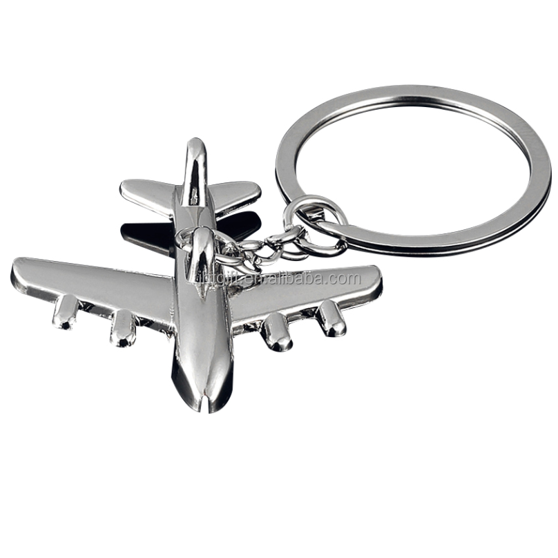 Hot sale metal crafts key chain zinc alloy airplane keychain