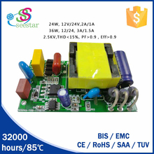 shenzhen manufacturer high pf dc 12v 24v 18w 24w constant voltage led driver power supply 1500ma
