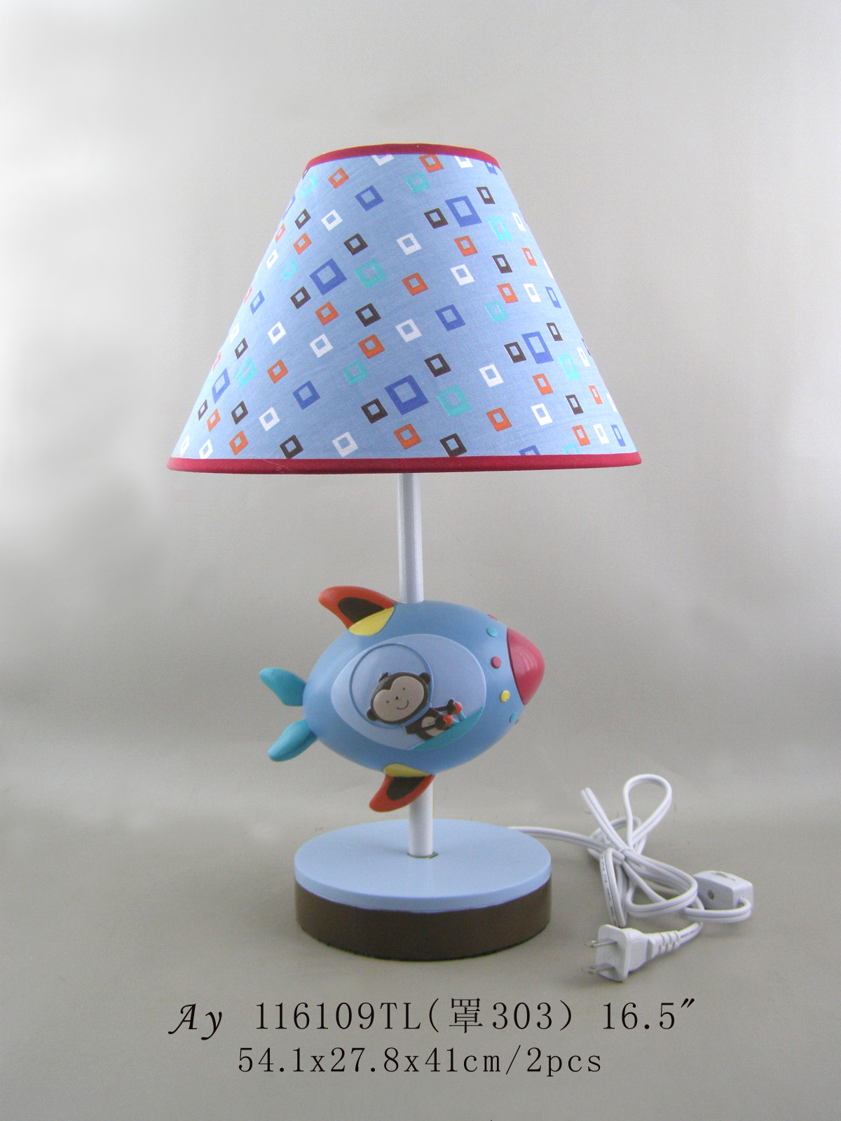 Resin animal family figurine table lamp led