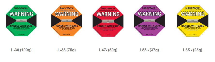 25G-100G Shock Sticker Impact Indicator Shockwatch