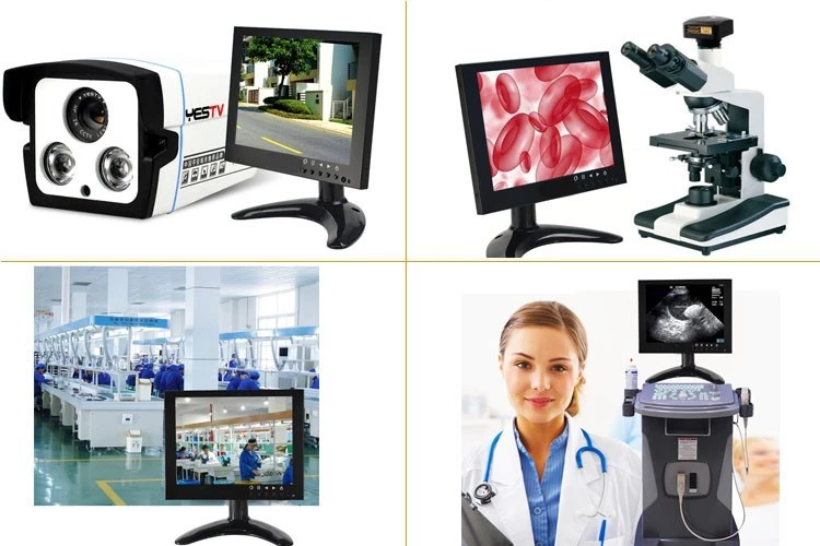 Promotion 26 inch lcd high brightness cctv monitor security monitor with VGA BNC HD YPBPR port