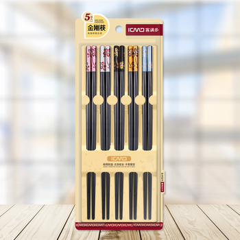 Quality Products Bamboo Japan Style Five-Pairs Sakura Chopstick with A Gift Box