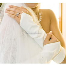Exclusive Production Fingerless White Satin Gloves For Bridal
