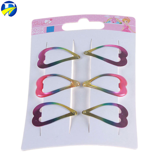 FJ brand Cheap Price Hair Extension Snap Clips Colorful Metal Baby Hair Clip hairgrips