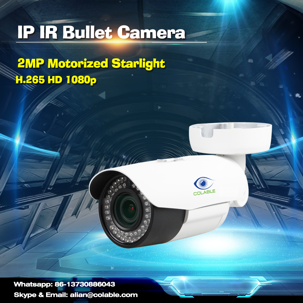 Newest Colable COL-SV1253WU2R3P 2MP H.265 2.8-12mm Zoom Lens USB IP67 Starlight IR poe Bullet Camera varifocal ip camera