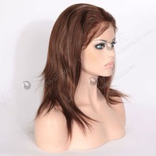 color 4/27 two tone human hair wig brown blonde highlights